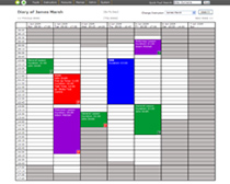 Web Application: DSO Calendar Screen