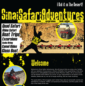 SinaiSafariAdventures.com: Website Screenshot
